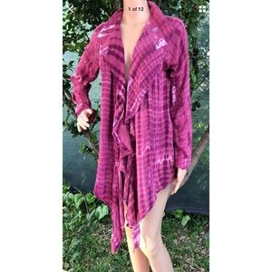 SOFT SURROUNDINGS Cover-Up Blouse Tunic Open Front
